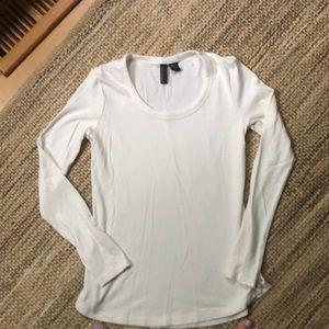 Cynthia Rowley women's cream long sleeve T-shirt